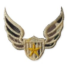 MILITARY STAR WINGS MOTIF IRON ON EMBROIDERED PATCH APPLIQUE
